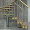 Quarter-turn staircase / half-turn / wooden steps / metal frame TECH L/U 75-85-95 Misterstep