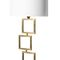 table lamp / contemporary / brass / cotton