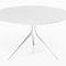 contemporary table / wooden / aluminum / rectangular