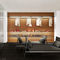 contemporary daybed / fabric / leather / metal