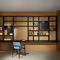 Contemporary bookcase / for offices / lacquered wood / aluminum SYSTEM PENSILE / HANGING Porro