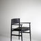 Contemporary chair / upholstered / with armrests / molded plywood NEVE  Porro