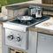 gas barbecue / built-in / metal