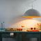 Pendant lamp / contemporary / steel / in Nebulite® MATT : MEZZA LUNA CEMENTO in-es artdesign