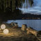 Floor lamp / contemporary / in Nebulite® / outdoor LUNA : EX MOON in-es artdesign