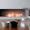 Gas fireplace / contemporary / closed hearth / open hearth dim\'ora
