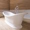 freestanding bathtub / oval / composite / stone