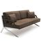 Contemporary sofa / leather / stainless steel / 2-seater DS-60 by Gordon Guillaumier de Sede AG