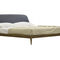 double bed / contemporary / with upholstered headboard / ash