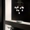 contemporary chandelier / painted steel / blown glass / LED