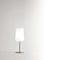 table lamp / contemporary / blown glass / white