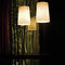 pendant lamp / contemporary / chromed metal / blown glass