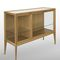 contemporary display case / glass / oak / ceramic