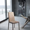 contemporary chair / upholstered / fabric / steel