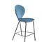 contemporary bar chair / upholstered / fabric / steel