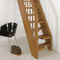 Straight staircase / wooden steps / wooden frame / without risers OXA : MINI FONTANOT - ALBINI & FONTANOT