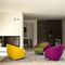 Contemporary armchair / fabric / upholstered / on casters CART by Joe Colombo Ditre Italia