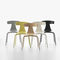 contemporary chair / upholstered / stacking / wooden