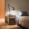 contemporary bedside table / metal / rectangular / with drawer