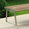 Public bench / contemporary / wooden / metal ORLANDO AREA