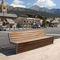 Public bench / contemporary / wooden / metal MONTGENÈVRE AREA