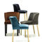 Contemporary bar chair / upholstered / fabric / painted steel VIRGINIA ST by Ludovica +Roberto Palomba arrmet