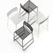 contemporary bar chair / with footrest / sled base / stackable