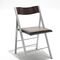 contemporary chair / upholstered / folding / wooden