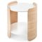 contemporary side table / oak / plywood / laminate