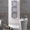 hot water towel radiator / metal / contemporary / rectangular