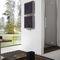 hot water towel radiator / steel / contemporary / rectangular
