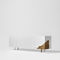 contemporary sideboard / lacquered MDF / white