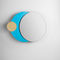 wall-mounted mirror / original design / round / lacquered MDF