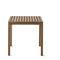 contemporary table / teak / square / garden