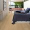 solid parquet floor / glued / oak / brushed