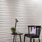 Indoor tile / wall / porcelain stoneware / wave pattern 3D WALL DESIGN : RIBBON WHITE & SAND Atlas Concorde