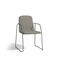 Contemporary chair / fabric / stainless steel / with armrests LOOP   MANUTTI