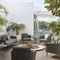 Contemporary sofa / outdoor / fabric / metal CASCADE MANUTTI