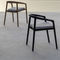 contemporary armchair / teak / with armrests / commercial