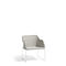 contemporary armchair / fabric / wicker / stainless steel