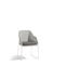 contemporary garden chair / with armrests / with removable cushion / stainless steel