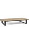 Contemporary coffee table / teak / glass / wrought iron PRATO   MANUTTI