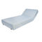 contemporary sun lounger / Sunbrella® / stainless steel / commercial