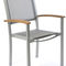 contemporary chair / with armrests / stackable / high back