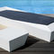 contemporary side table / coated foam / garden / white
