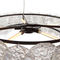 contemporary chandelier / metal / glass / incandescent