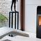 pellet boiler stove / contemporary / steel