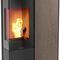 wood heating stove / pellet / contemporary / corner