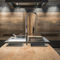 contemporary kitchen / beech / steel / island