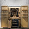 built-in wine cabinet / wooden / custom